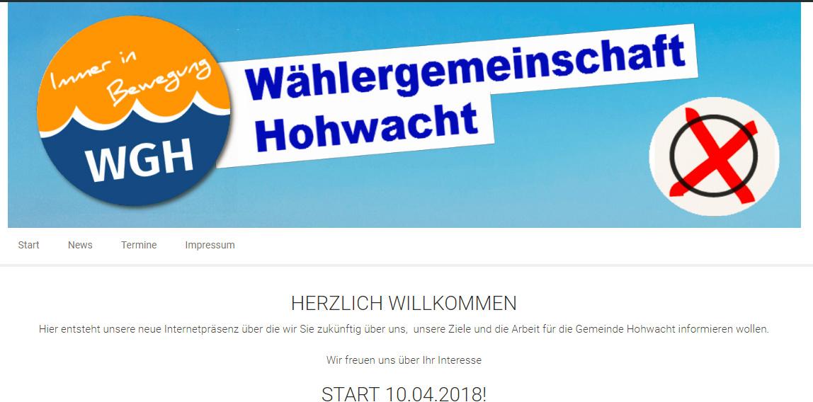 WGH – endlich online