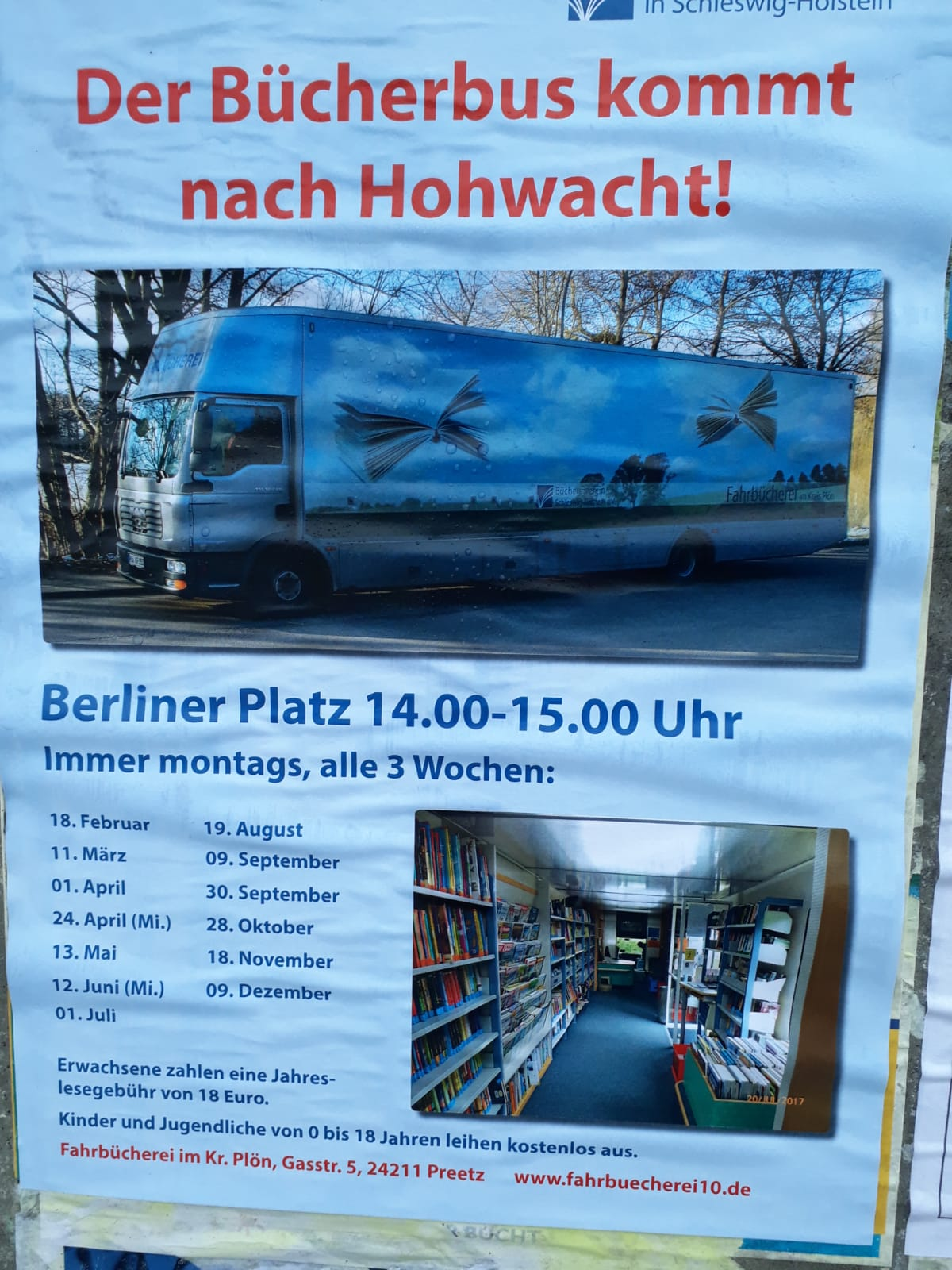 Jeden 3. Montag -> Bücherbus!